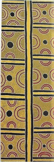 Aboriginal Art Bookmark - Tyankern and Ahakeye Dreaming