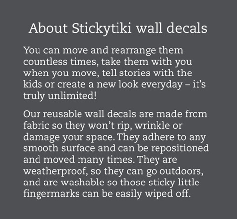 About StickyTiki wall decals