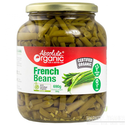 Absolute Organic French Beans 690g