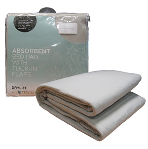 Absorbent Bed Pad with Tuck-In Flaps