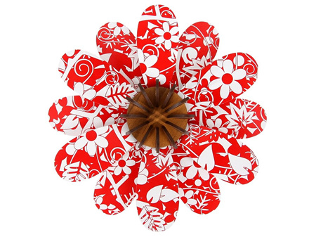 Abstract Design Floral Red Flower