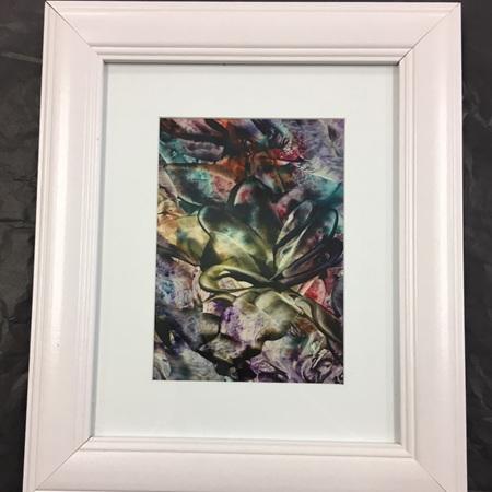 Abstract Encaustic (Wax) Framed Art