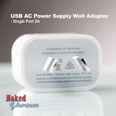 USB AC Power Supply Wall Adapter - Single Port 2A