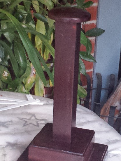 Accessory 11  - Wooden Helmet Stand