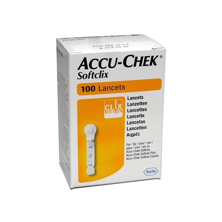 ACCUCHEK SOFTCLIX LANCET 100