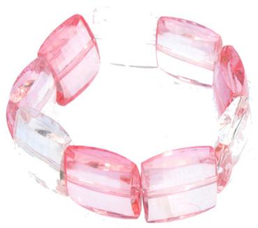 Acrylic Stretch Bangle: Pink