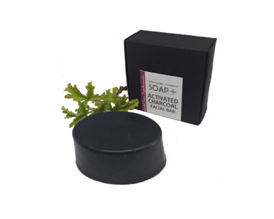 Activated Black Charcoal Facial Bar - Geranium