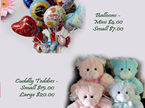 Add a cute teddy and a balloon