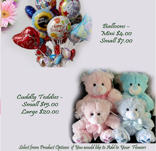 add a teddy or balloon to your delivery to epsom