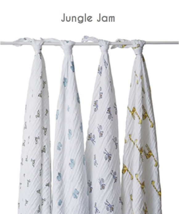 Aden & Anais classic muslin set - jungle jam as seen on royal baby