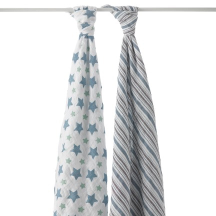 Aden & Anais swaddle - two pack