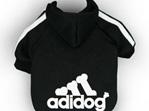 Adidog Hoodie  - Black Small Dogs