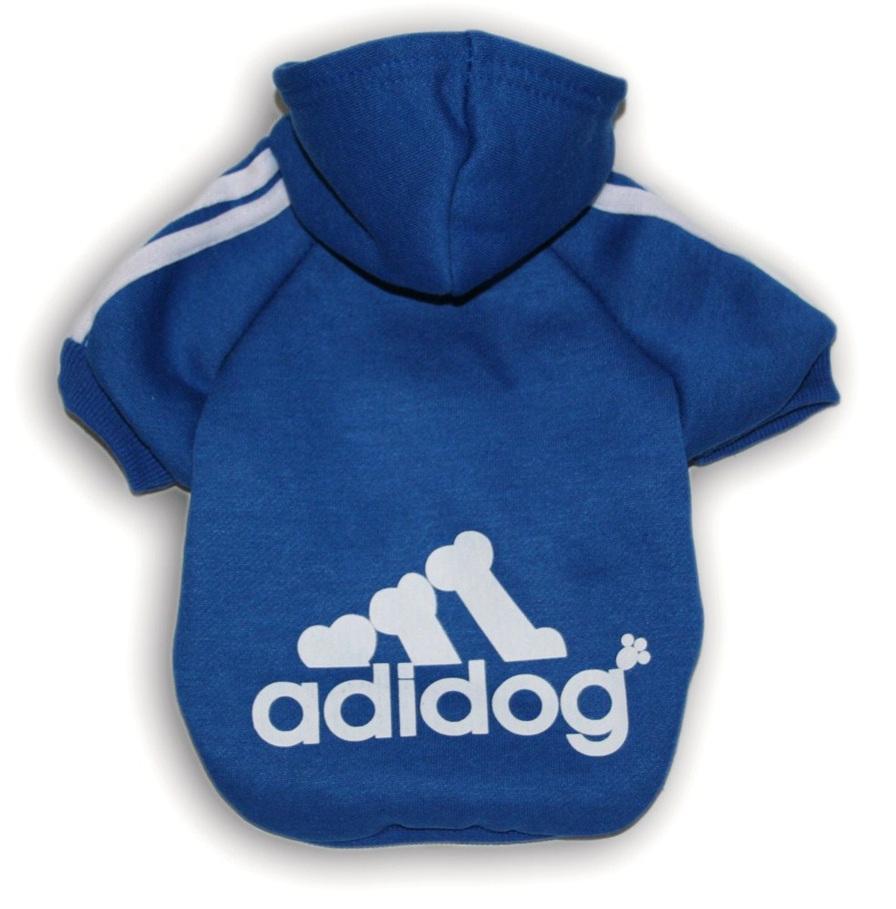 Adidog Hoodie -  Blue Small Dogs