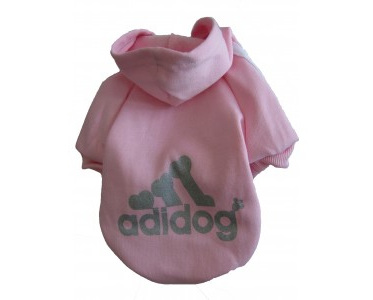 Adidog Hoodie - Pink Small Dogs