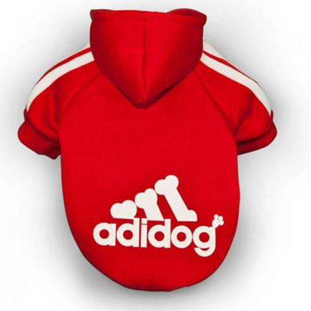 Adidog Hoodie - Red Sm Dogs