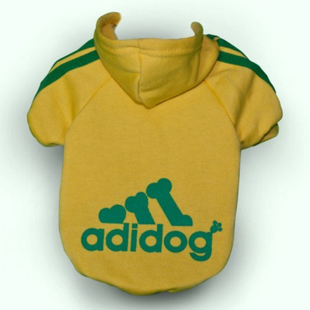 Adidog Hoodie - Yellow Small Dogs