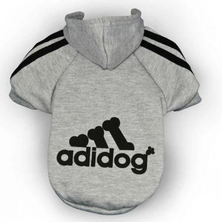 Adidog Hoodies - Grey Small Dogs