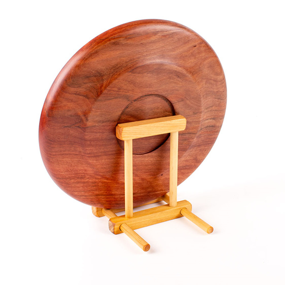 adjustable display stand - back - platter