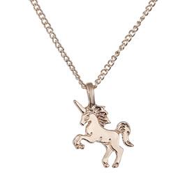 Adorable Gold Unicorn Pendant Necklace
