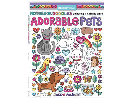 Adorable Pets Doodle Series Colouring Book
