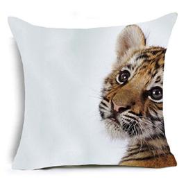 Adorable Tiger Cub Cushion Cover