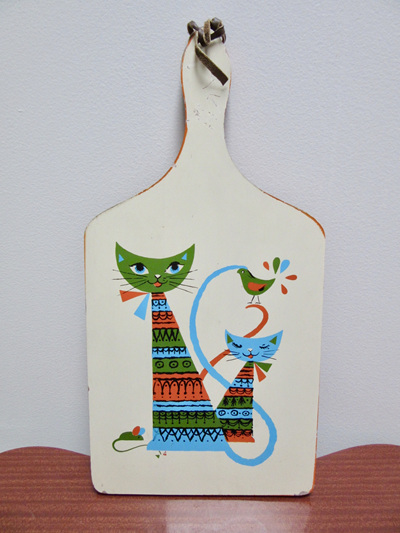 Adorable Vintage Martex Pussy Cat Cutting Board