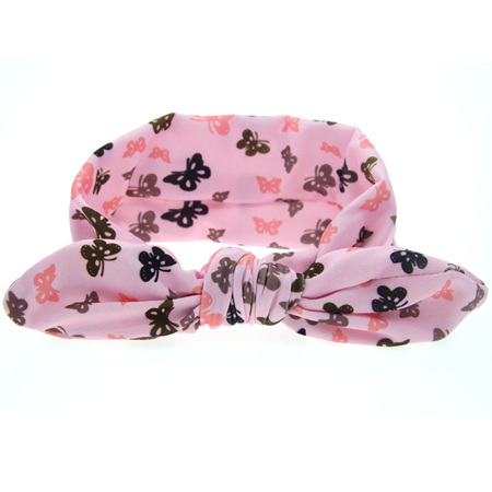 Adorbale Pink Butterfly Knot Hairband