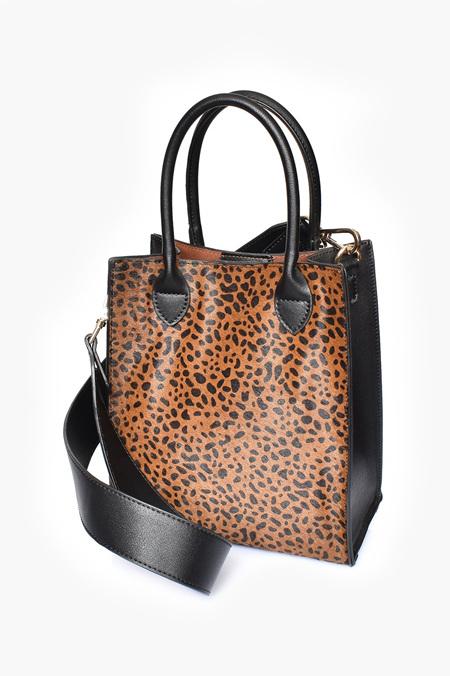 Adorne Hide Mini Structured Top Handle Bag
