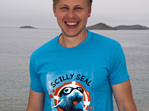 Adult Scilly Seal Tee - Aqua