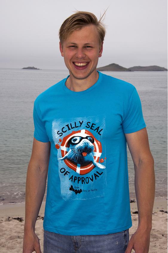 Adult Scilly Seal Tee - Aqua