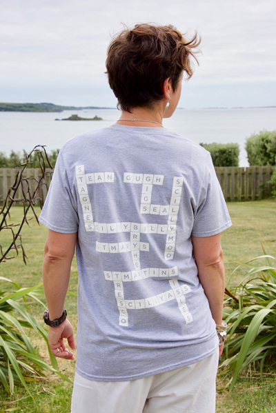 Adult Scrabble Tee - Light Grey
