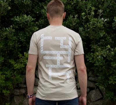 Adult Scrabble Tee - Sand
