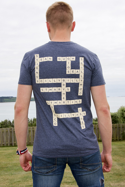 Adult Scrabble Tee - Vintage Navy