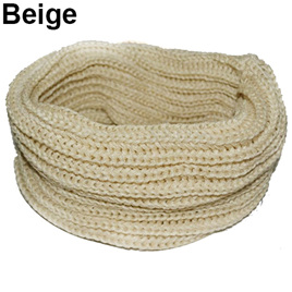 Adults O-Ring Scarf - Beige