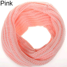 Adults O-Ring Scarf - Pink