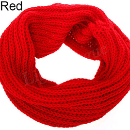 Adults O-Ring Scarf - Red