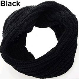 Adults O-Ring Scarf/Snood - Black
