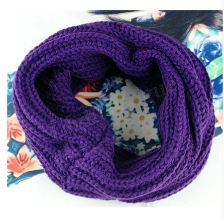 Adults O-Ring Scarf / Snood - PURPLE