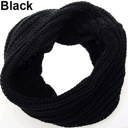 Adults O-Ring Scarf/Snood - Black