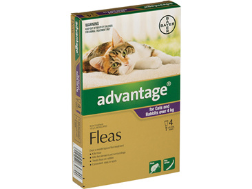 Advantage® Flea Treatment for Cats and Rabbits over 4kg,  4 or 6 pack