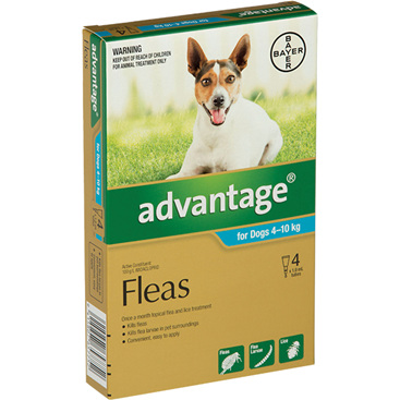 Advantage® Flea Treatment for Dogs  4-10kg,  4 pack