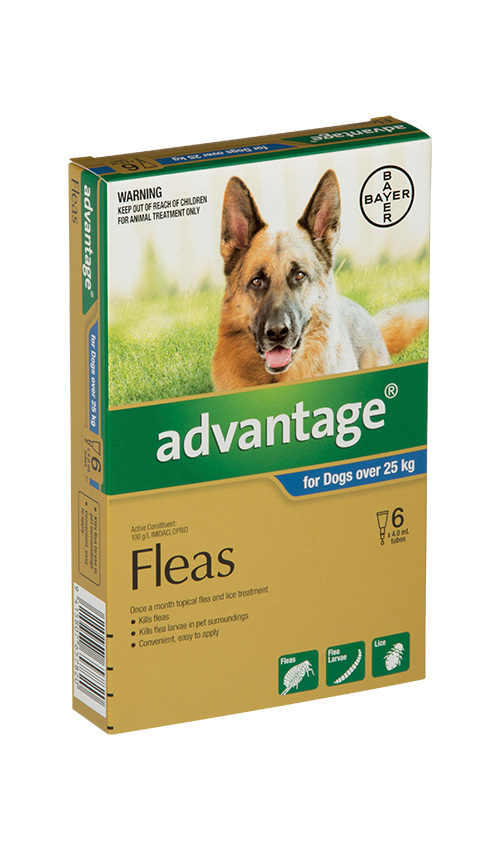 Advantage® Flea Treatment for Dogs over 25kg, 4 or 6 pack