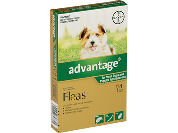 Advantage®  Flea Treatment for Small Dogs and Puppies less than 4kg,  4 pack