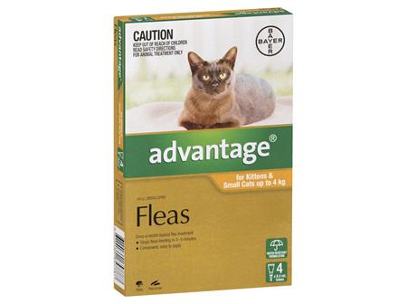 Advantage Flea Treatments - Cat 0-4kg