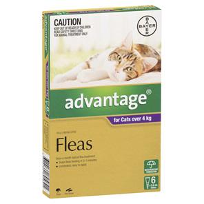 Advantage Flea Treatments - Cat 4-10kg