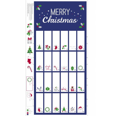 Advent Calendar Navy/Silver Metallic NT80380102