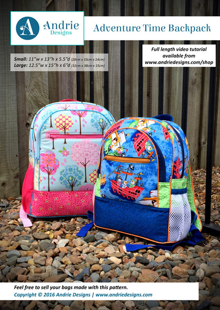 Adventure Time Backpack Pattern
