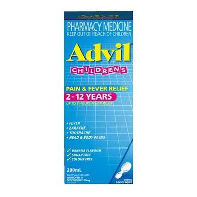 ADVIL PAIN & FEVER SUSPENSION 100ML