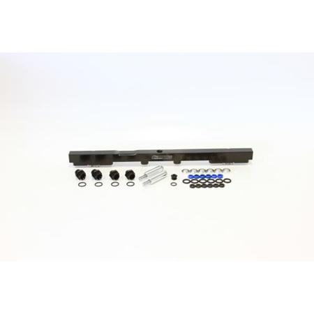 Aeroflow Billet Fuel Rail - 2JZ (black) - AF64-2059BLK