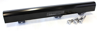 Aeroflow Billet Fuel Rail - 4G63 EVO 1-3 - Black